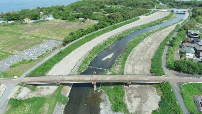 安曇川河川改良工事